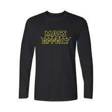 New Mass Effect 3 N7 T Shirt Long T Shirt Men Brand New Print Long T Shirt Men Tops Hip Hop Tee T-shirt O Neck Casual Clothers