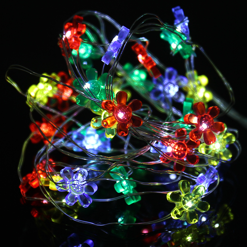 2/3M 20/30 LED Sunflower String Lights Outdoor sun flower Lighting Lamp Fairy Christmas Decorative Light for Party Holiday P0.2
