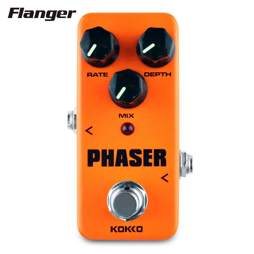 Flanger FPH2 Mini Analog Phaser Guitar Effect Pedal True Bypass Aluminum Alloy Housing mooer ensemble queen bass chorus effect pedal mini guitar effects true bypass with free connector and footswitch topper