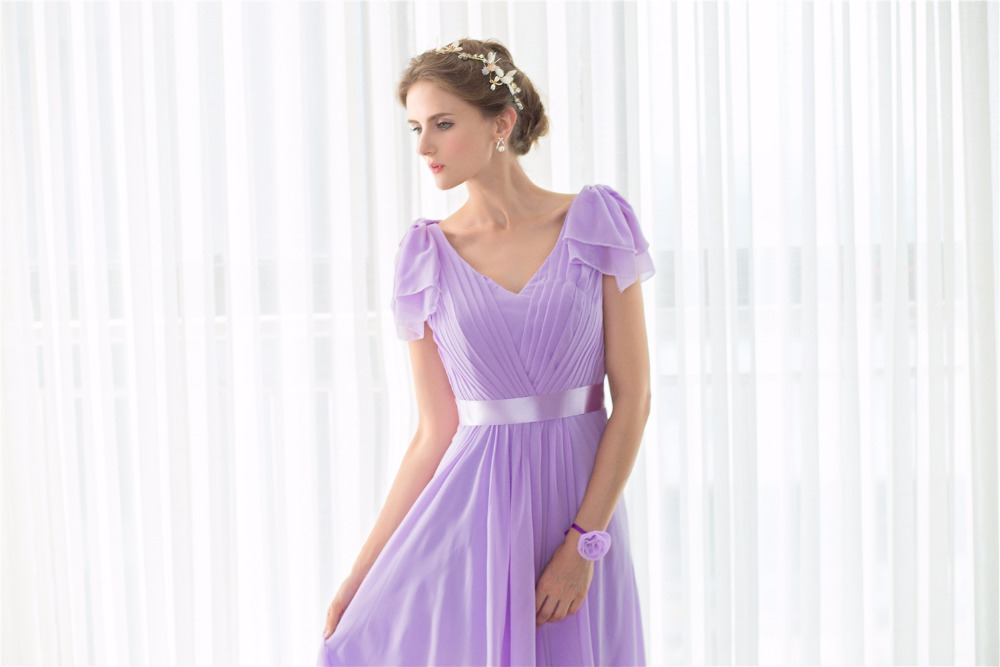 Lavendel Hofdame Kleider Für Hochzeiten Party Kleider Robe ...