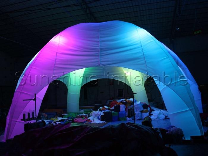 Vroči prodajni napihljivi pajkov šotor na prostem, beli poročni dogodek napihljivi šampon, napihljiv krošnja