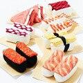 носки 3d 5 пар/лот печатные оптовая продажа 2015 япония креативная кухня ролл-суши Харадзюку мужчины и женщины с длинными носки хлопковые meias