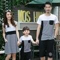 Лето семья соответствующие наряды мать платья отца и дочери / сына футболка одежда семья одежда и детская одежда SH21