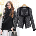 New 2016 Hot Sale   Spring and Autumn Slim Top Short Design Plus Size Women Jacket Female Fashion Suit Jacket  B128