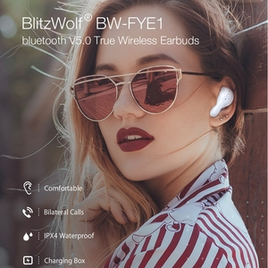 Image 2 - [WHITE] Blitzwolf BW FYE1 TWS Wireless Bluetooth 5.0 Earphone Bilateral Call Auto Paring Stereo In Ear Earbuds with Charging Box