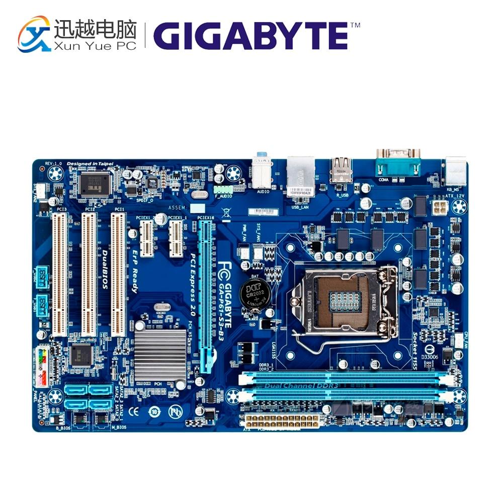 Gigabyte GA-P61-S3-B3 Desktop Motherboard P61-S3-B3 H61 LGA 1155 i3 i5 i7 DDR3 16G ATX