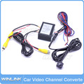 2015 Car Front/Side/Rear View Cameras Image Switch Control Box Video 2 Channel Converter Parking Camera System Video Control Box