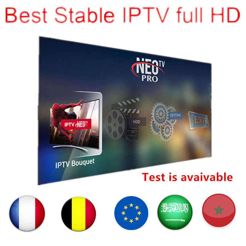IPTV Subscription France Arabic UK Spain German Italy Portugal 1800+Live 2000+VOD Support Android M3U MAG Enigma 2 Smart TV Box