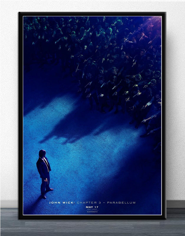 Fx2496 John Wick Chapter 3 Parabellum Keanu Reeves 2019 Movie Poster Art Silk Print Light Canvas Home Room Wall Printing Decor Painting Calligraphy Aliexpress