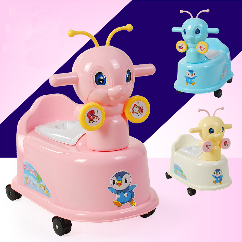 Lovely Bee Musical Baby Potty Toilet Kids Potty Baby Potty Portable Travel Potty Chair Toilet Seat For Kids Trainer Toilet Seat penguin style baby potty toilet trainer