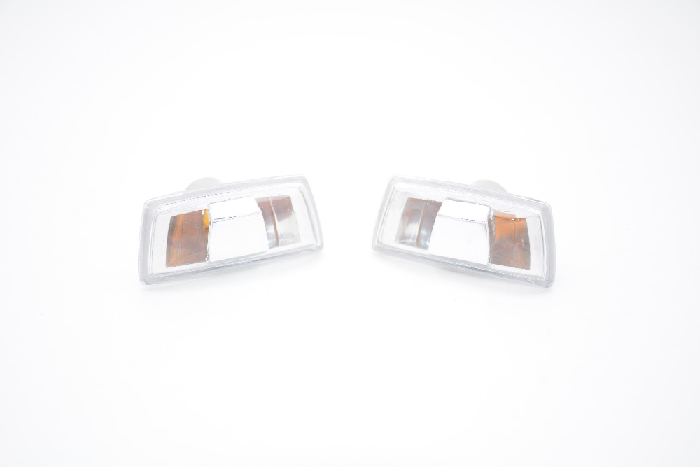 1Pair Clear Fender Side Marker Lights Turn Signal Lamps For Chevrolet Cruze 2009-2014 extend a fender for chevrolet suburban 1992 1999 black front pair