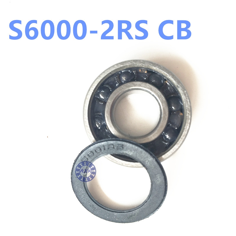 10x26x8mm Stainless steel hybrid ceramic ball bearing S6000 2RS CB ABEC5 bicycle bearing stainless steel hybrid ceramic ball bearing smr84 2rs cb abec7 4x8x3mm
