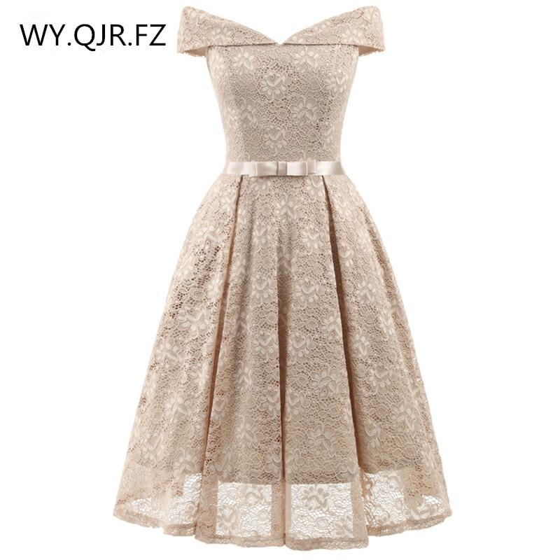 CD1603X # абрикосовое кружевное платье с вырезом лодочкой и бантом, сексуальные короткие вечерние платья для невесты, тост, платье на выпускной ...