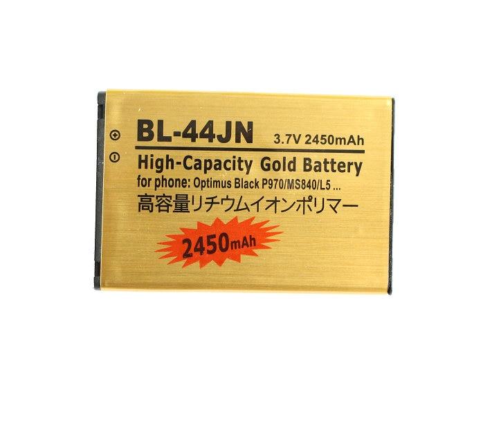 Replacement Battery Gold E612 P970 Optimus Black BL-44JN 2450mah For LG P970/Ms840/L5/..