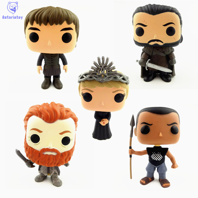 NEW 10cm Game of Thrones Cersei Lannister Bran Stark Grey Worm action figure big Bobble Head Q Edition no box for Car Decoration