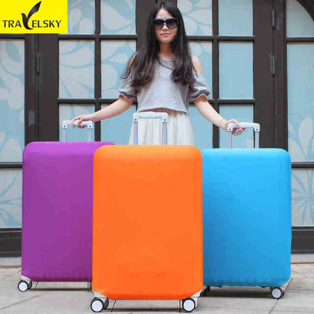 Pure colors suitcase Cover  for 20inch-32inch suitcase elastic polyester material with four kinds 1 pcs free shipping 16861T