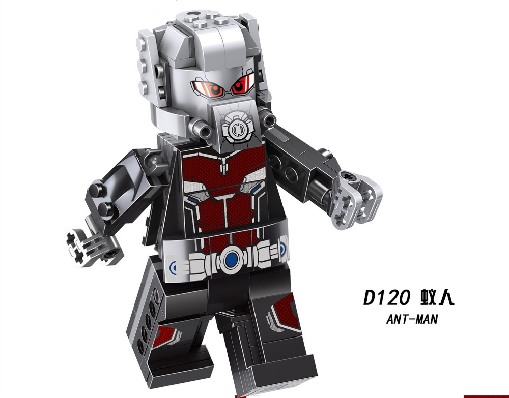 10PCS Super Hero Antman Juguetes ANT MAN ของเล่นเด็กบล็อกอาคารของขวัญของเล่นเด็กเพื่อน-ใน บล็อก จาก ของเล่นและงานอดิเรก บน   1