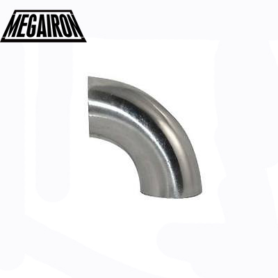 MEGAIRON 1-3/4 1.75 Pipe OD 45mm Sanitary Weld Elbow 90 Degree Pipe Fittings Stainless Steel SUS SS316