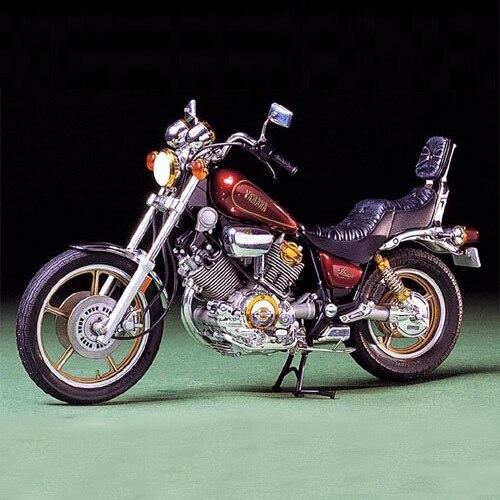 أطقم تجميع نموذج الدراجة النارية 1/12 مقياس ياماها XV1000 Virago معدات بناء المحرك ذاتية الصنع Tamiya 14044