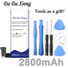 Da Xiong 2800mAh Battery For Apple iPhone 4 for iphone 4g battery +Free Tools