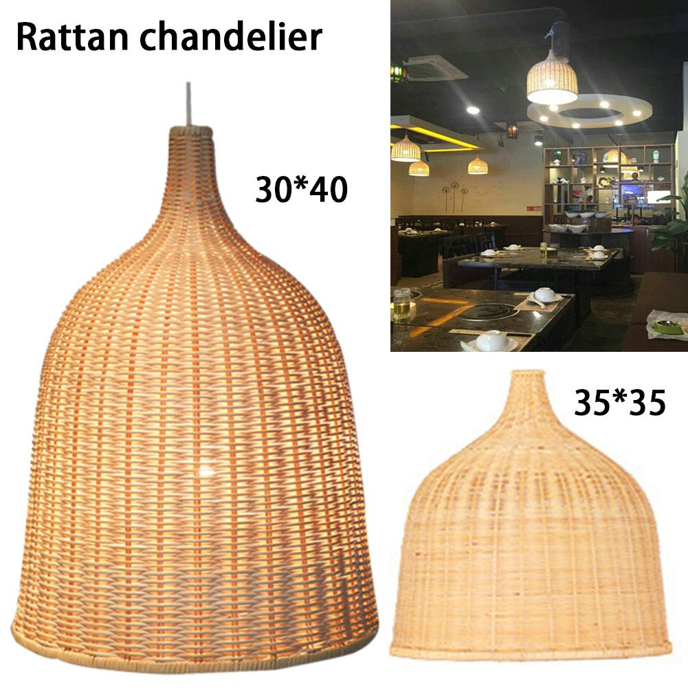 Southeast Asia Style Household Rattan Chandelier Simple Innovative Individual Shop Balcony Tea House Engineer Lamp without Power