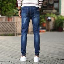 Новый стиль Ретро-Ностальгии Синие Джинсы Стрейч Джинсовые осенние Досуг джинсы Известный Бренд Случайные штаны pantalones вакеро 965 7