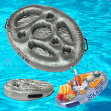 Inflatable Spa Bar Hot Tub Spas Pool Floating Drinks and Food Holder Tray hot tub cover basket to lift and store your spa cover easy