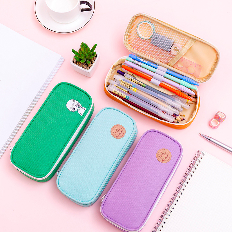 <font><b>Kawaii</b></font> <font><b>big</b></font> <font><b>Pencil</b></font> <font><b>Case</b></font> Zipper Large Capacity Cute <font><b>Pencil</b></font> Box Portable Storage Bag <font><b>school</b></font> supplies Multifunctional Stationery Box image