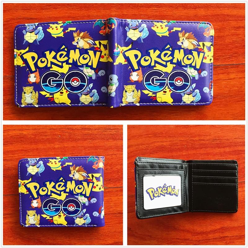 New Hot Game Pokemon Go Wallet Monster Charizard Pikachu Poke Short Wallets folding Card Holder Purse For Teenagers W659 lno 217pcs charizard pokemon building block