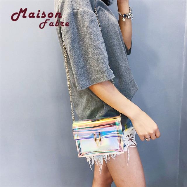 2018 Maison Fabre Fashion Women Laser Transparent Crossbody Bags Messenger Shoulder Bag Beach P