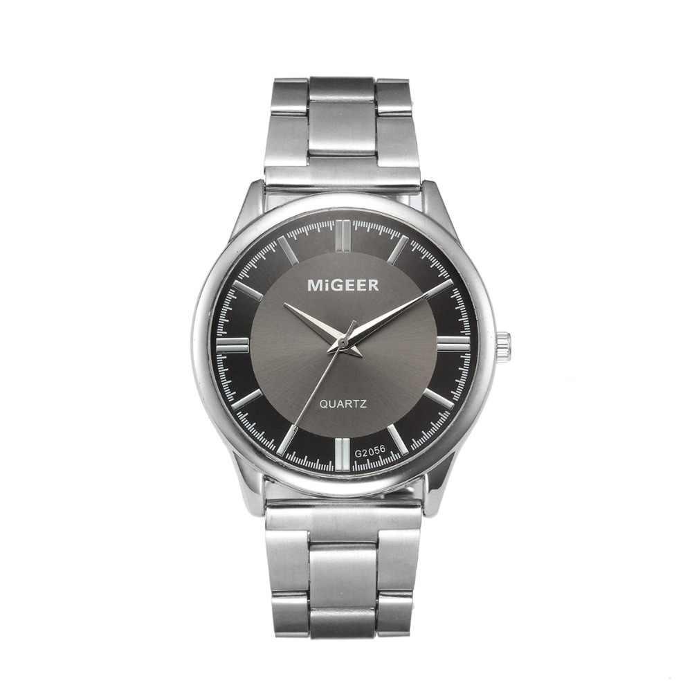 Relojes Hombre 2019 Pria Fashion Pria Crystal Stainless Steel Kuarsa Jam Tangan Analog Часы Мужские Наручные Jam Tangan Pria