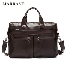 MARRANT Business Real Genuine Leather Briefcase Bag Casual Handbag Totes Crossbody Men Messenger Laptop Bag Men;s Travel Bags