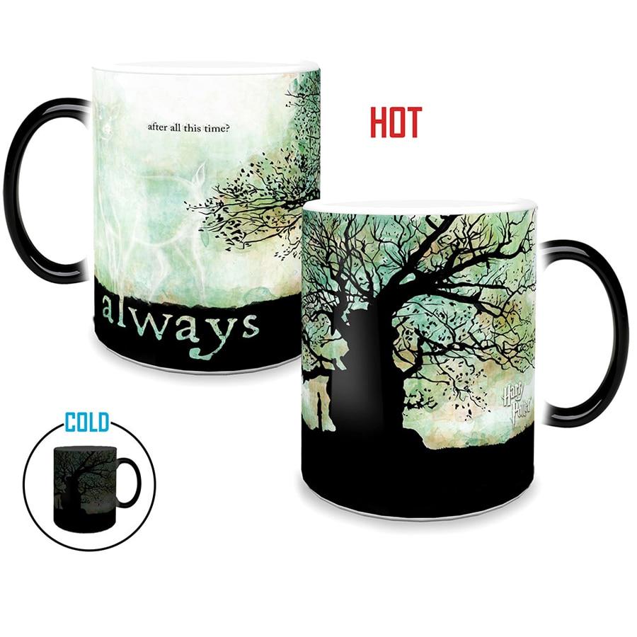 Új mágia minden idő után mindig könnyű mágia Bögrék Színváltó csésze Érzékeny kerámia kávé Tea Bögrék Kupa legjobb ajándék
