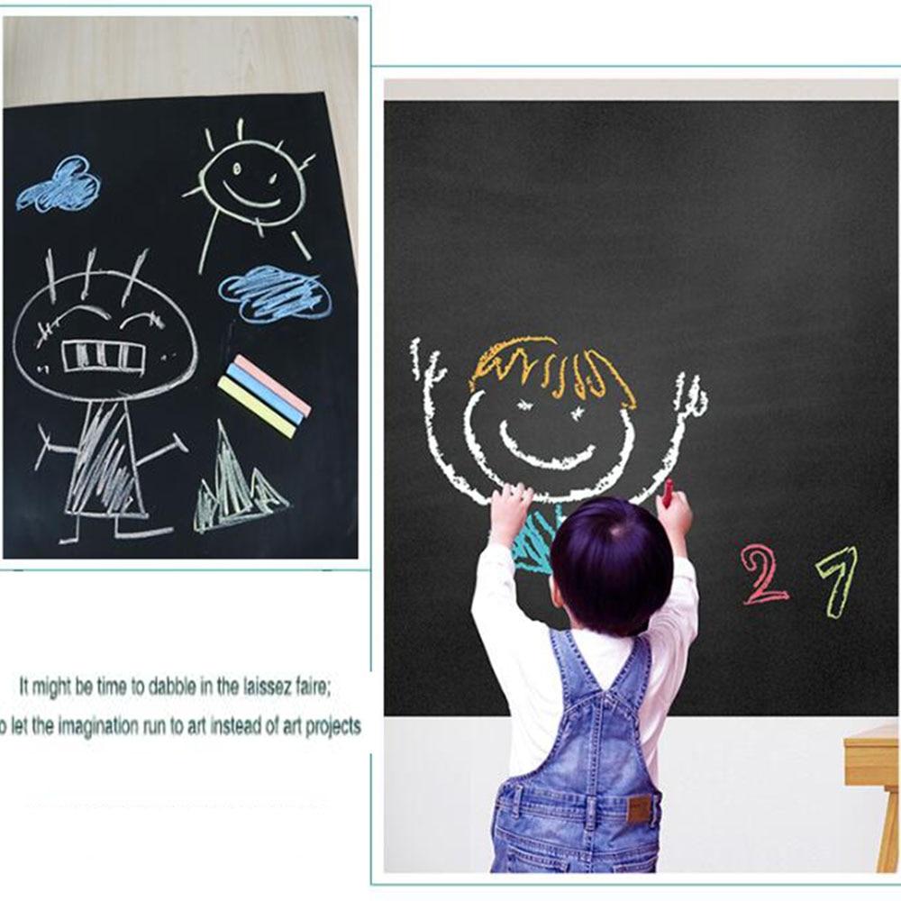 90x200 cm tableau de contact papier tableau noir autocollants tableau craie autocollant pour mur papier peint café bar stickers muraux pour chambre d'enfant
