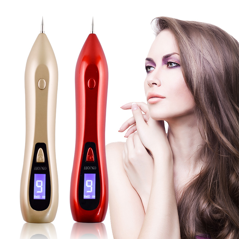 Skin Care Laser Mole Tattoo Freckle Removal Pen LCD Sweep Spot Mole Removing Wart Corns Dark Spot Remover Salon Beauty Machine linlin laser freckle removal machine painless spot mole tattoo wart speckle remover pen beauty portable care equipment skin care