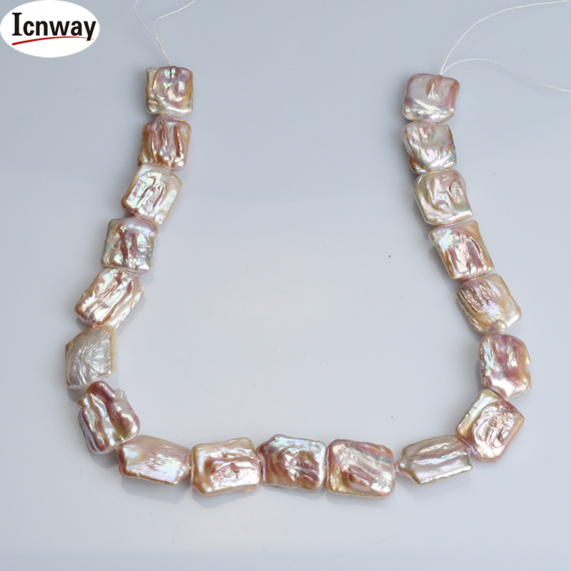 Natural AA lavender square reborn keshi Freshwater Pearl 18*16mm 15inches DIY necklace bracelet  FreeShipping Wholesale icnwayNatural AA lavender square reborn keshi Freshwater Pearl 18*16mm 15inches DIY necklace bracelet  FreeShipping Wholesale icnway
