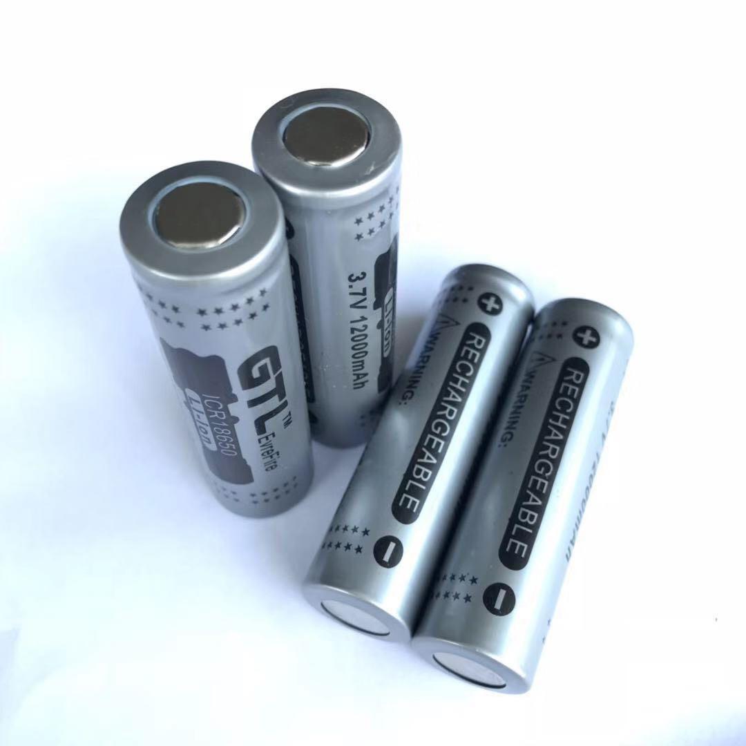40 pièces 18650 capacité 3.7 V 12000 mAh Rechargeable 18650 Li-ion Batterie 18650 Batteries pour lampe de poche batterie externe