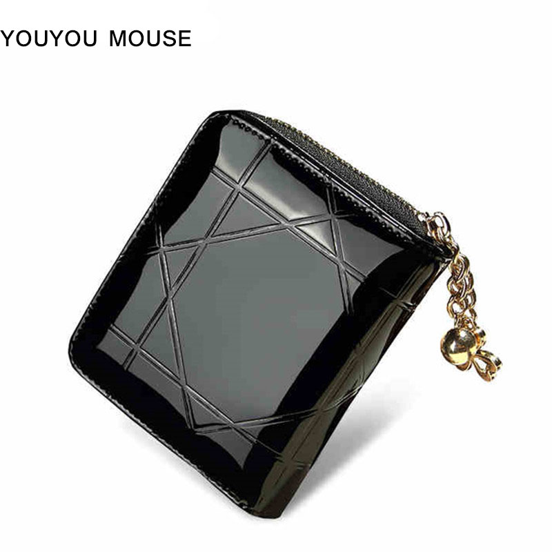 YOUYOU MOUSE European and American Style Wallet 2 Fold Zip High Capacity Multi-bit Women's Wallet Solid PU Leather Short Purse youyou mouse korean style women wallet pu leather 2 fold phone package wallet multi function lovely big eyes pattern wallet