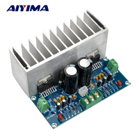 1PCS TDA7293 X2 100 100W Digital Stereo Audio Amplifier Board With Heatsink AC 12 50V