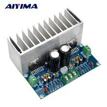 Placa amplificadora de áudio aiyima tda7293, 100w * 2, digital, estéreo, placa com dissipador de calor dual AC12 32V