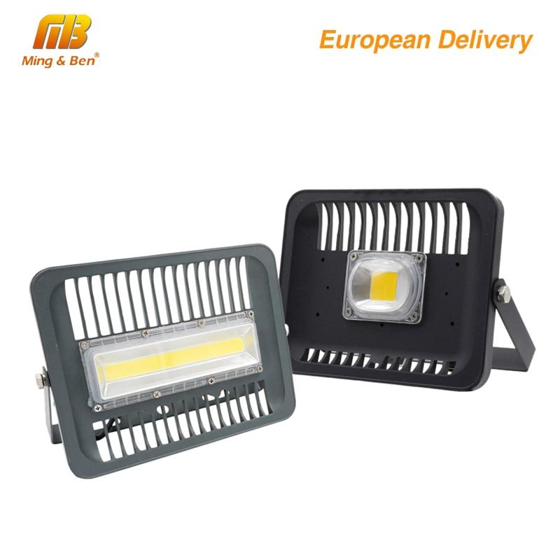 LED Floodlight 30W 50W 100W Outdoor Lighting AC 220V High Brightness IP65 Waterproof CE For Square Garden Garage Ship Form ES RU