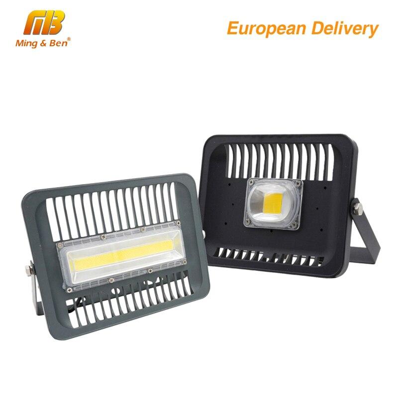 [MingBen] reflector LED 30 W 50 W 100 W de iluminación al aire libre 220V230V de alta luminosidad IP65 CE para Square Garden garaje nave forma ES.