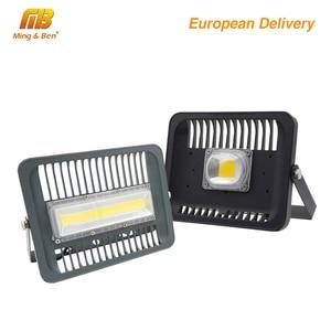 Image 1 - LED Schijnwerper 30W 50W 100W Outdoor Verlichting AC 220V Hoge Helderheid IP65 Waterdicht CE Voor Vierkante tuin Garage Schip vorm ES RU