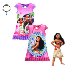New in 2019 Moana Cosplay Costume Baby Girl Clothes Princess Dress Dresses Little Girls Clothing 3-9 Y