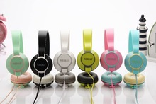 2016 U-9 Headphone with Mic for Iphone 5 5s 6 6plus girls stereo earphone storage bag mobile phone headset color headband