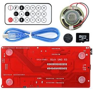Image 2 - Rich Multifunction UNO R3 Atmega328P Development Board Kit for Arduino with MP3 /DS1307 RTC /Temperature /Touch Sensor module