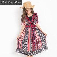 Teen Girls Bohemian Beach Dress Chiffon Seaside Vacation Summer Dress Girls Summer Clothes Sundress Child Costume