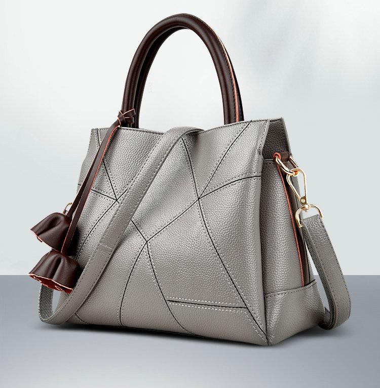Women Genuine Leather Handbag OL Female Bag Casual Shoulder Bag Female Pattern Leather Tote Bag Messenger Bags