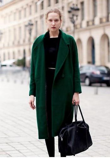 Women's oversized wool coats