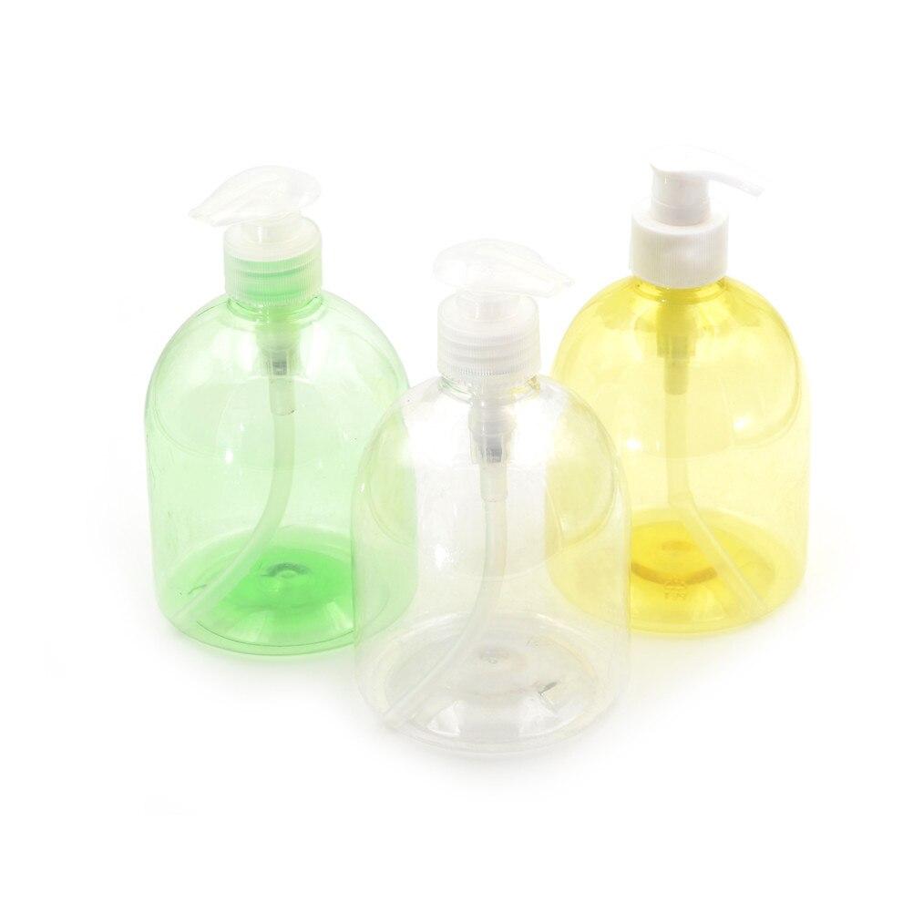500ML Plastic Bathroom Empty Bottles Liquid Soap Dispenser Hand Pump Shampoo Lotion Containers Cleanser